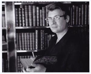 Kurt Thometz in Mrs. Astor's library